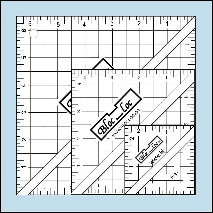 Half-Square Triangle Ruler Set #2
