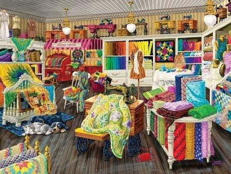 Puzzle Sewing Store Companion 500 pc