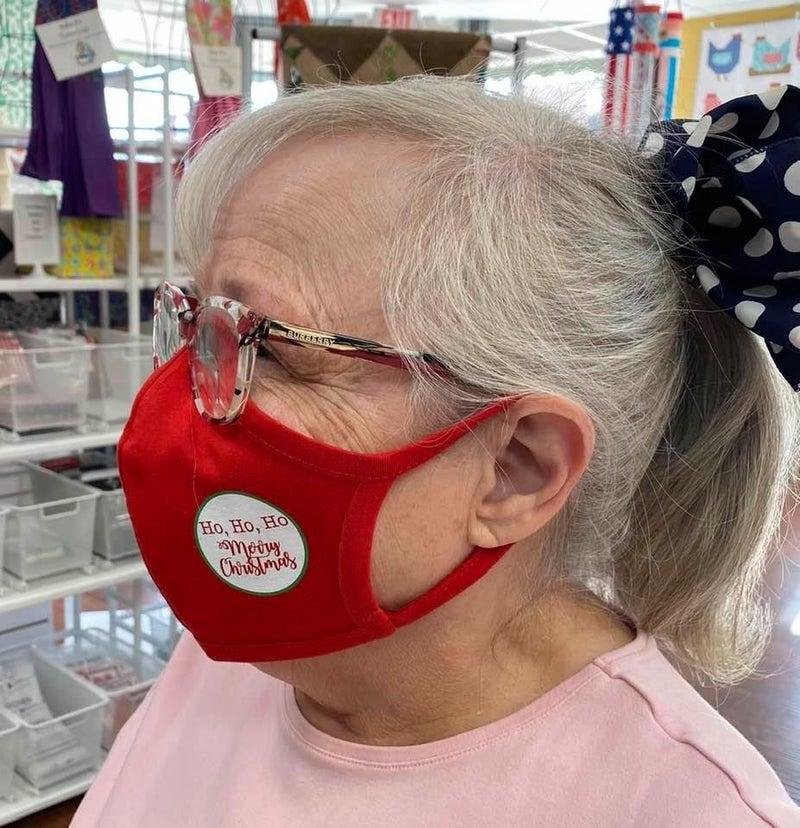 Face Covering Red Ho Ho Ho
