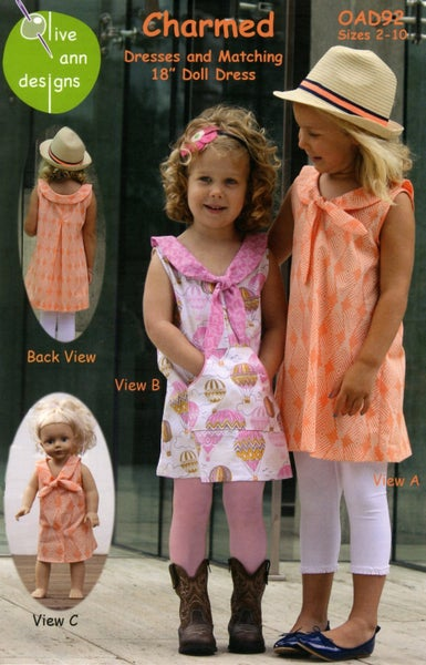 Pattern:  Charmed Girls Dress Size 2 - 10 *Final Sale*