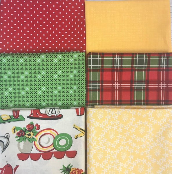Fat Quarter Bundle (6) Kitchen Fun