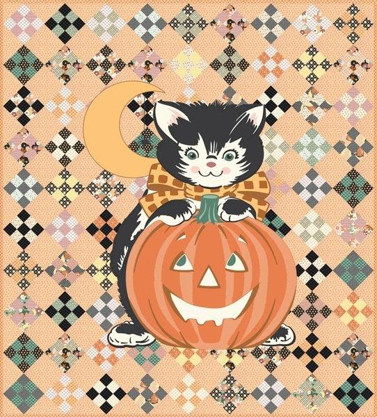 "Kit:  Kitty Corn by Moda  57"" x 63"""