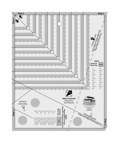 Kitty Corner Ruler & Free Pattern Kitty Cornered Chain