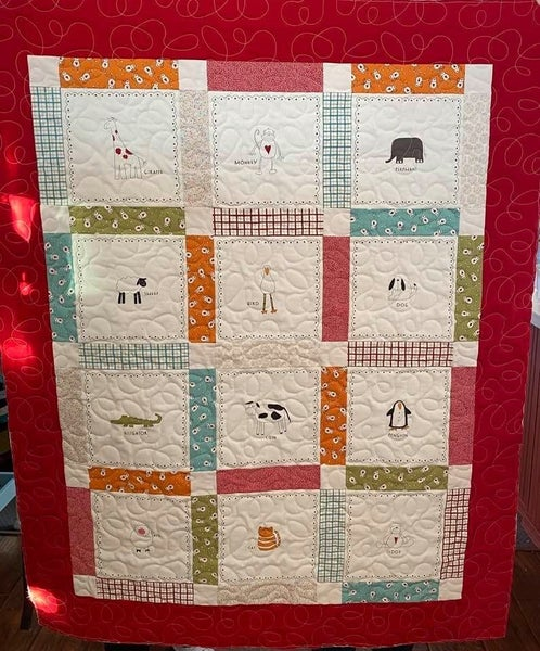 "Kit:  Moda Animal Crackers Block Quilt 40.5"" x 50.5"" Inc. Instructions"