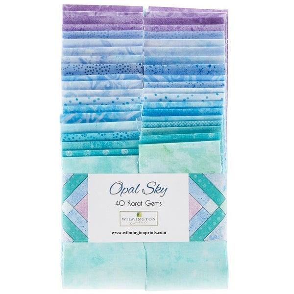 "Essential Gems (40) 2 1/2"" Strips Opal Sky Cotton"