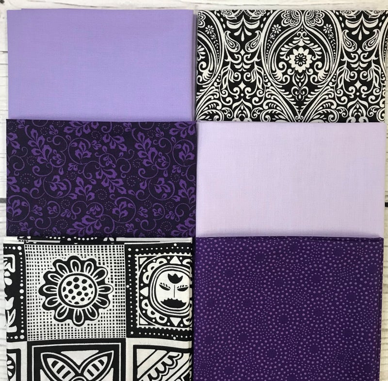 FQ Bundle (6) Purple Posies