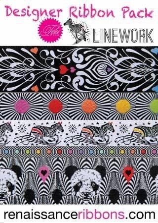 Tula Pink Lineworks Designer Ribbon Pack