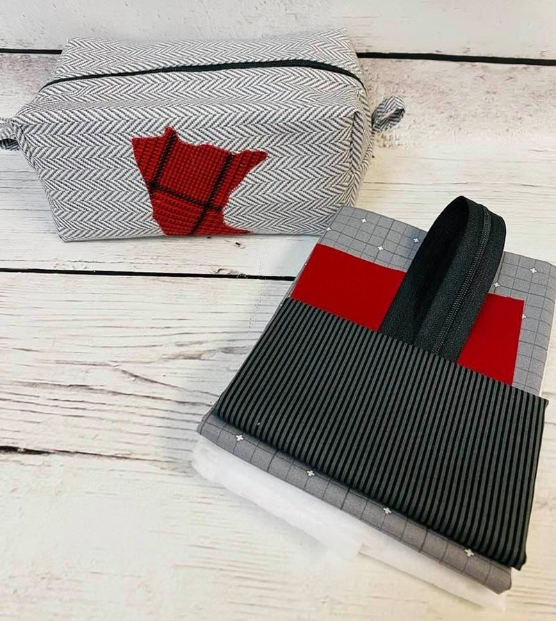 Kit:  Coleen's MN Zipper Pouch Grey