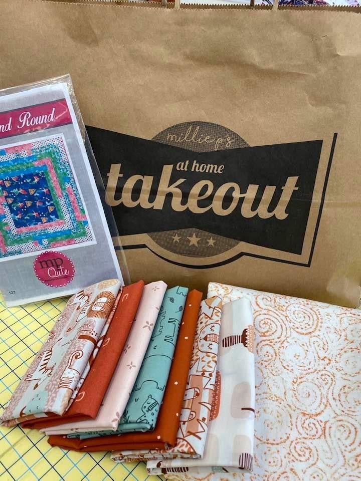 "Millie P's Takeout - Kit/Pattern 34"" x 39"" Baby Quilt"