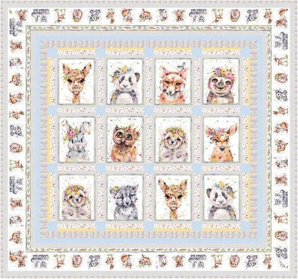 """Kit:  Little Darlings Woodland 57"""" x 61"""""""