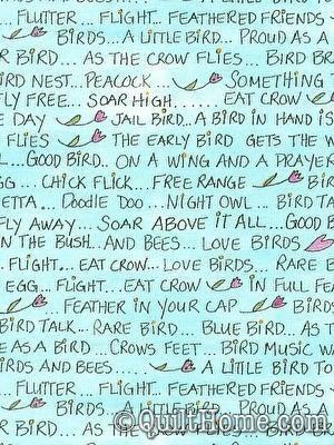 Laura Heine - Bird in Hand Words (190 x 42)