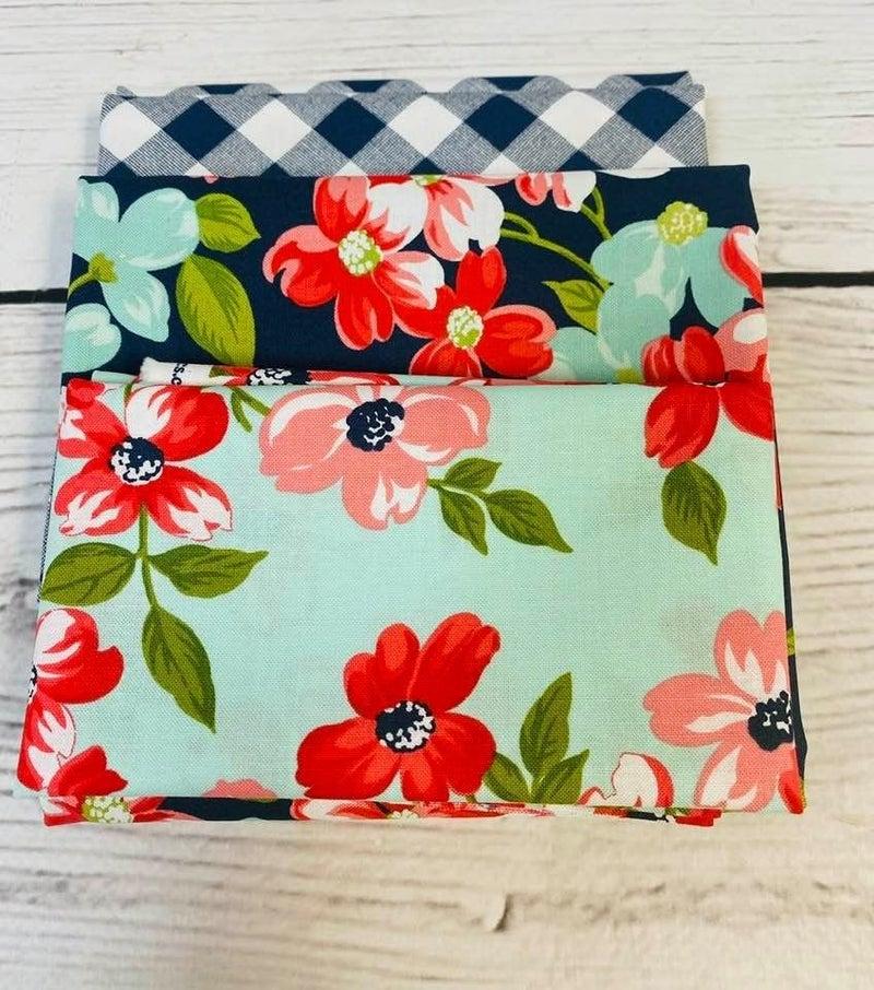 Kit:  June Tailor Lunchbox FLower(Need Batting/Zipper Kit)