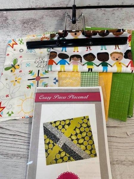Kit:  Crazy Pieces Placemat Kids Inc. Pattern