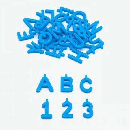 Pinnable Block Markers Blue (36 pieces A-Z & 0-9)