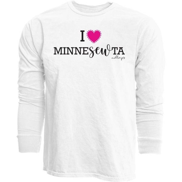 Long Sleeve T I Love MinneSewTa