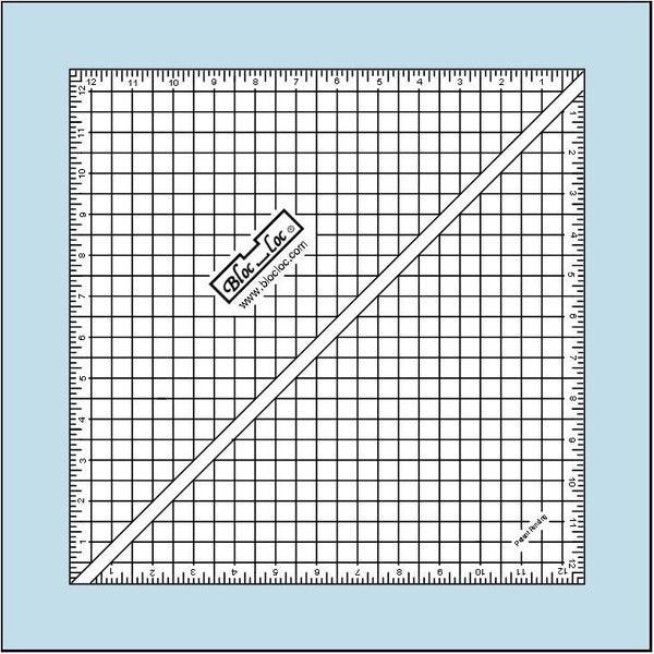"""Half-Square Triangle Ruler 12 1/2"""" x 12 1/2"""""""