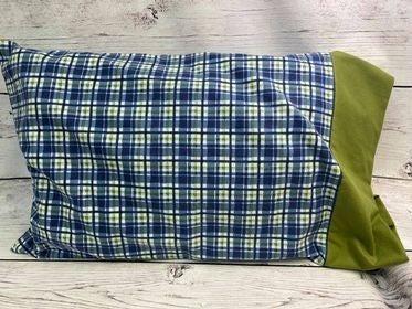 Kit: QMN Flannel Pillow Case Blue