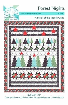 "Kit:  Row of Month Forest Nights  62"" x 73"""
