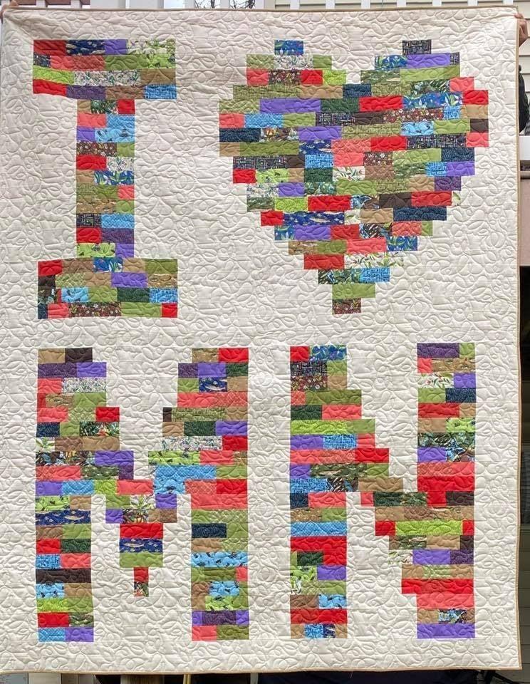 """Kit: QMN I Love MN  74"""" x 90"""" Includes Pattern"""
