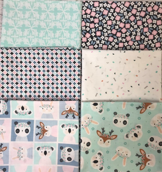 Fat Quarter Bundle (6) Flower Crowns
