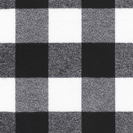 Two Yard Cut Black Buffalo Plaid Mammoth Flannel 60""