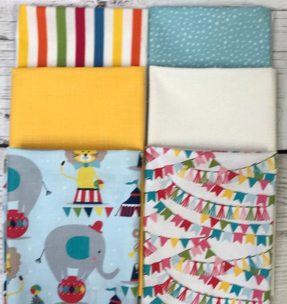 Fat Quarter Bundle (6) Circus Animals