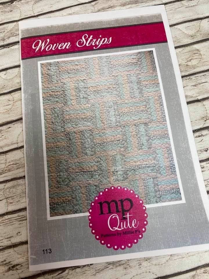 "MP Qute Pattern:  Woven Strips 45"" x 54"" and 58"" x 67"""