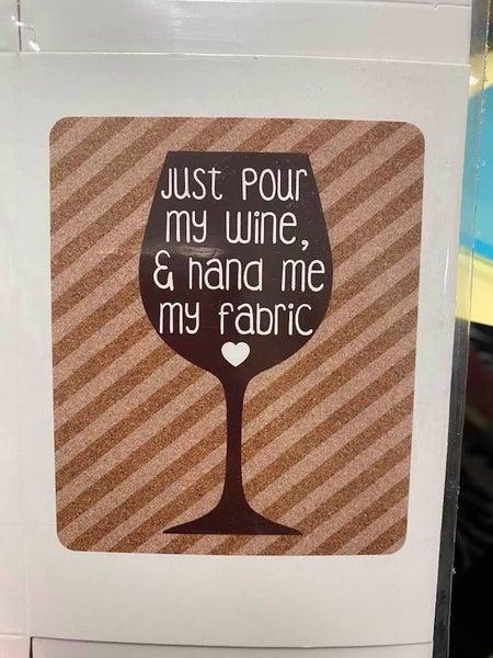 Fat Quarter Card Wine