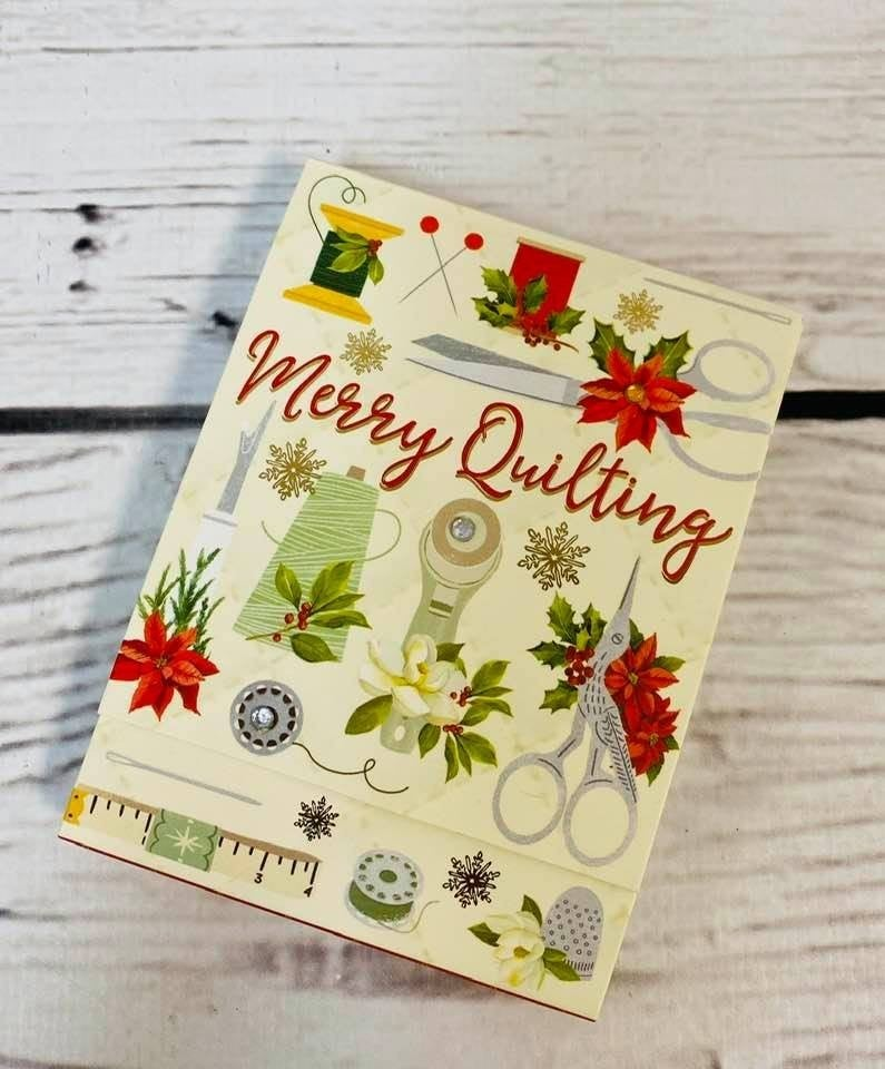 Pocket Notepad Merry Quilting