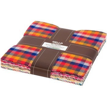 Mammoth Flannel Ten Squares Warm Color Story