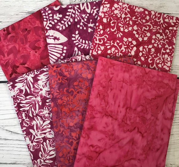 Six Half Yard Cuts - Batik Pink Passion