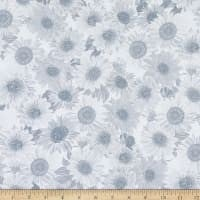 "Wideback 108"" Sunflower Whispers One Yard Light Gray"