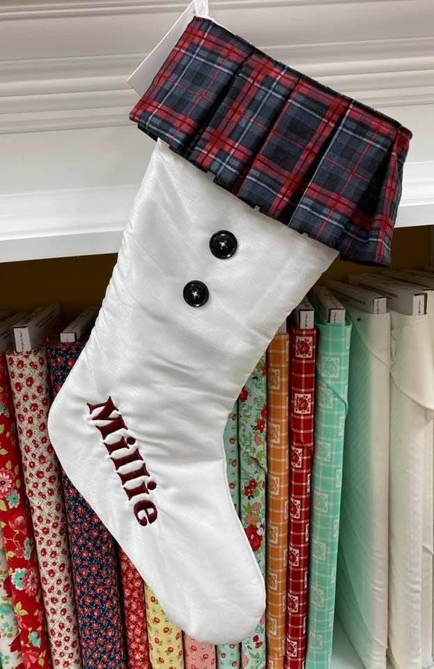 Kit:  Christmas Stocking Plaid