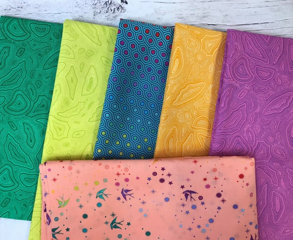 Kit - French Weave Pattern - Tula with Sherbert Fairy Dust background fabric