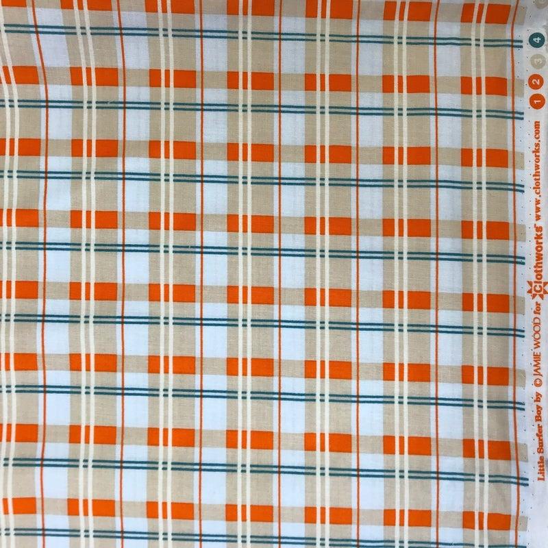 Clothworks Little Surfer Boy Orange (148 x 42)