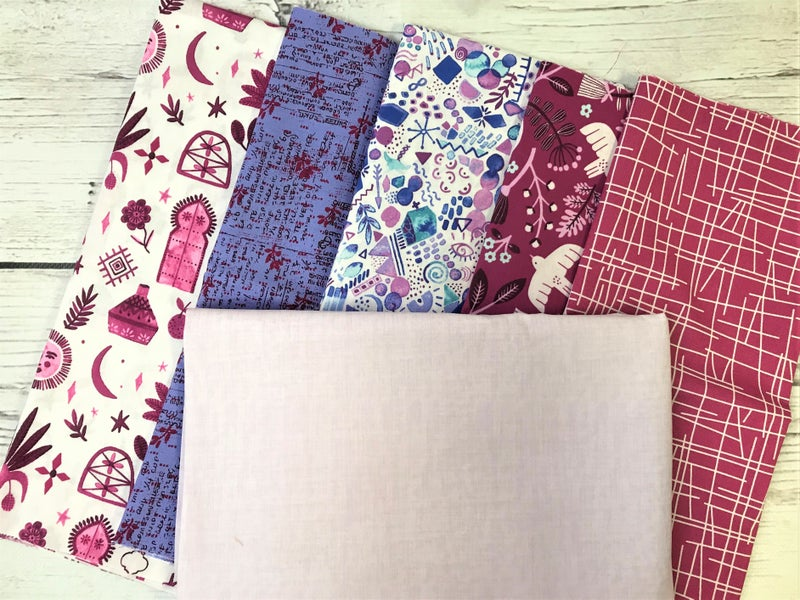 Kit - French Weave Pattern - Marbella Plum with WP Hampton Lilac background fabric