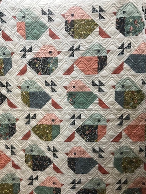 """Kit:  Sparrows w/Songbook  65.5"""" x 71"""" Inc. Pattern"""