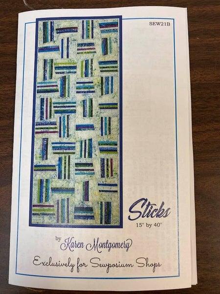 "Pattern:  Sticks Table Runner (Sewposium Exclusive)  15"" x 40"""