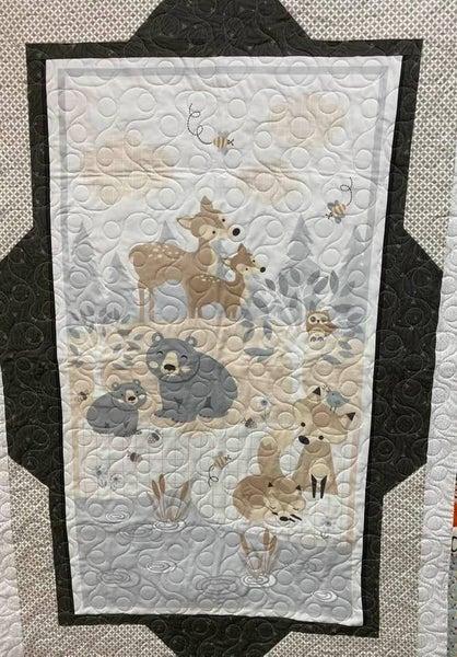"Kit:  Forest Friends Little Critter Panel Frames 36 x 54"" Inc. Ptrn"