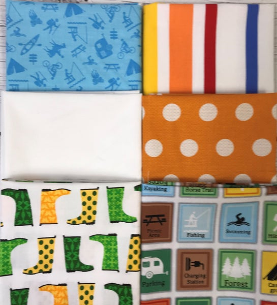 Fat Quarter Bundle (6) Outdoor Funtime