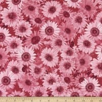 "Wideback 108"" Sunflower Whispers One Yard Rose"