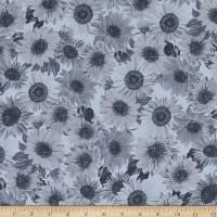 "Wideback 108"" Sunflower Whispers One Yard Med. Gray"