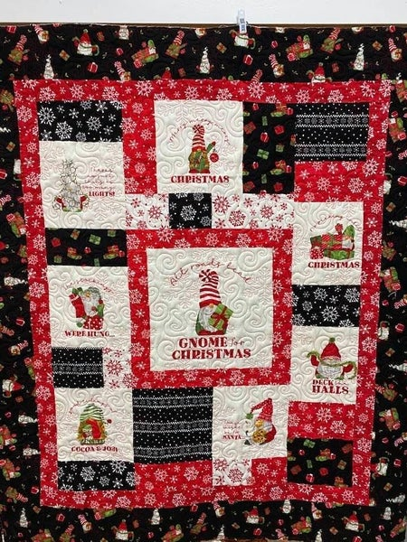 """Kit:  Flannel Gnome Kit  49"""" x 56.5"""" Inc. Fabric for Top, Binding & Pattern"""