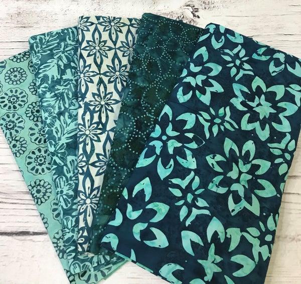 One Yard Cuts (5) - Batik Teal Confection