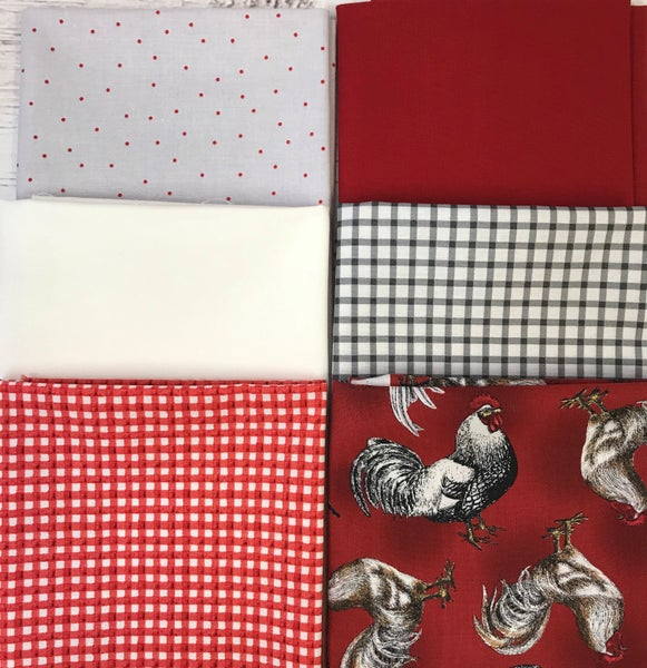 Fat Quarter Bundle (6) Roosters