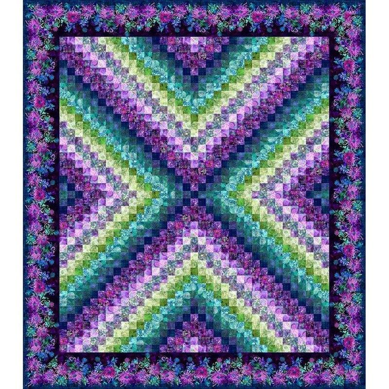 """Kit:  Jason Yenter Purple Floragraphix X Trip 88.5"""" x 100.5"""""""