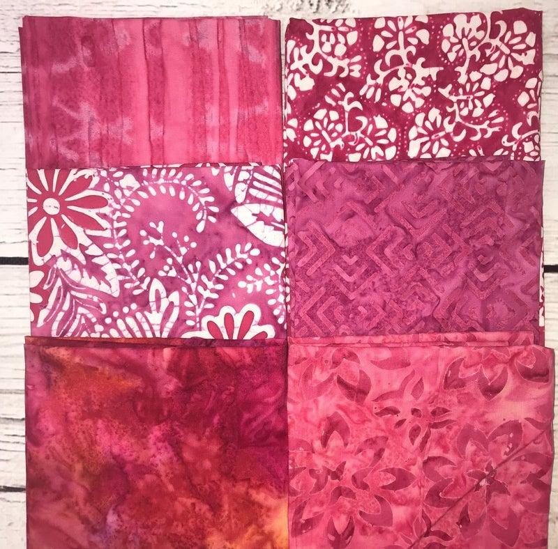 FQ Bundle (6) Fuschia Batik