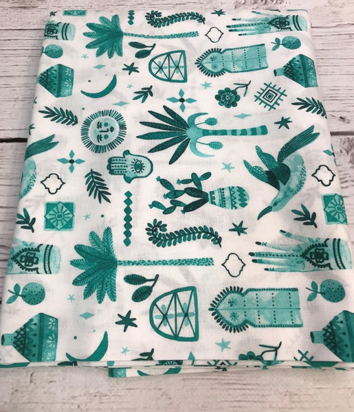 BYOK - Backing  Cotton and Steel Marbella Teal (3 3/4 yards)