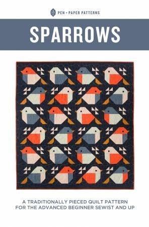 "Pattern: Sparrows 65.5"" x 71"""