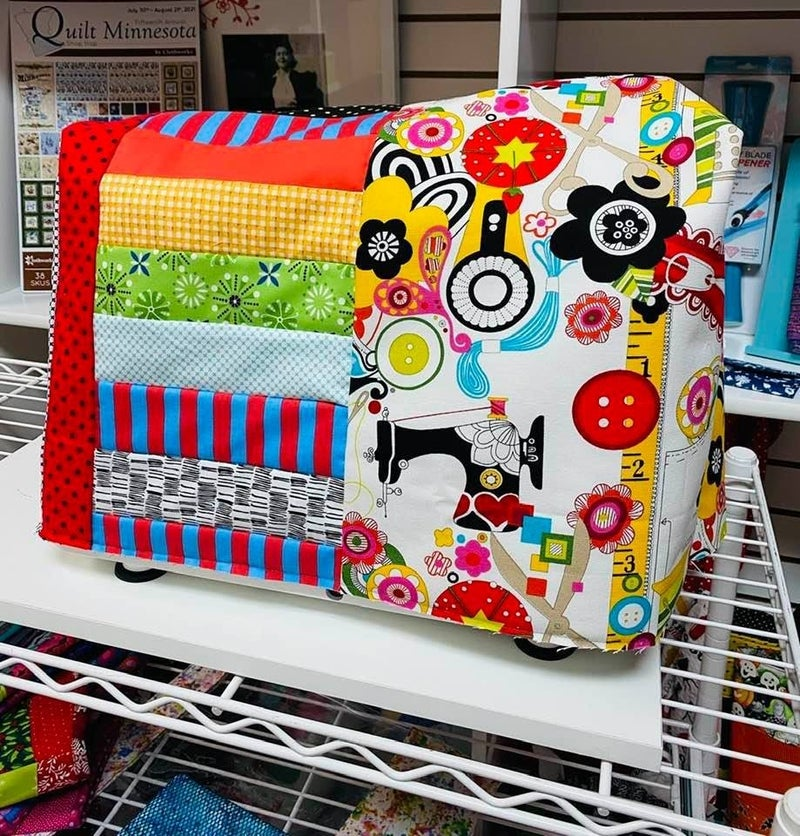 June Tailor Sewing Machine Cover Sew Now(Need Batting Kit)
